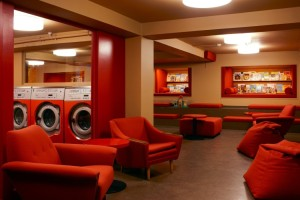 A cozy spot to chill while your laundry spins...